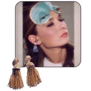 BaubleBar Jewelry - NWOT BaubleBar Gold Bead Tassel Statement Earrings
